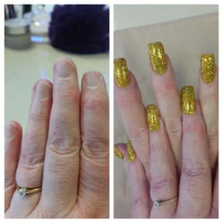 Photo of New York Nails - Edinburgh, United Kingdom. Before and after another 5