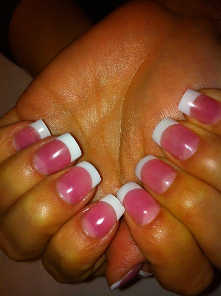 Powdered Gel Nails Design Vj Nails In Calgary Alberta: Pink And White Gel Powder