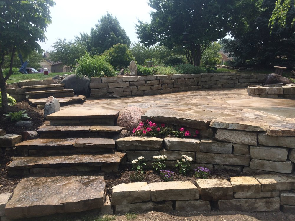 Photo Of Kouski Landscaping Co.   Champaign, IL, United States. Flagstone  Patio