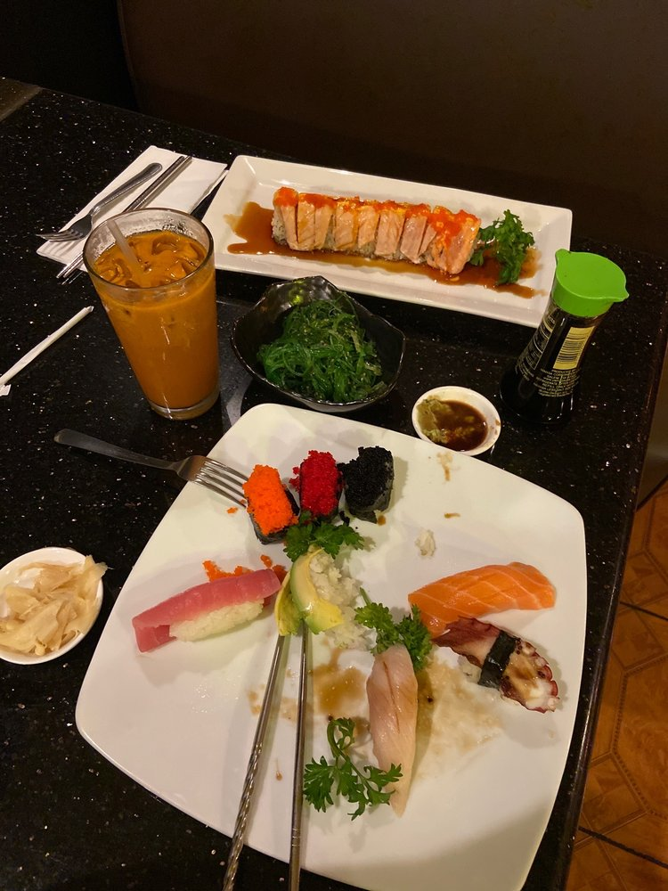 Food from Aji Sushi