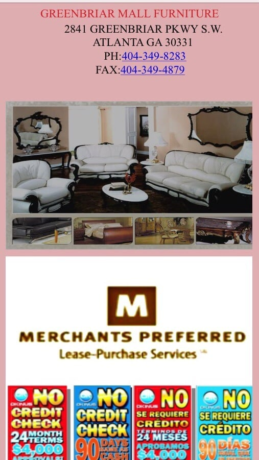 Greenbriar Mall Furniture   Furniture Stores   2841 Greenbriar Pkwy SW,  Atlanta, GA   Phone Number   Yelp
