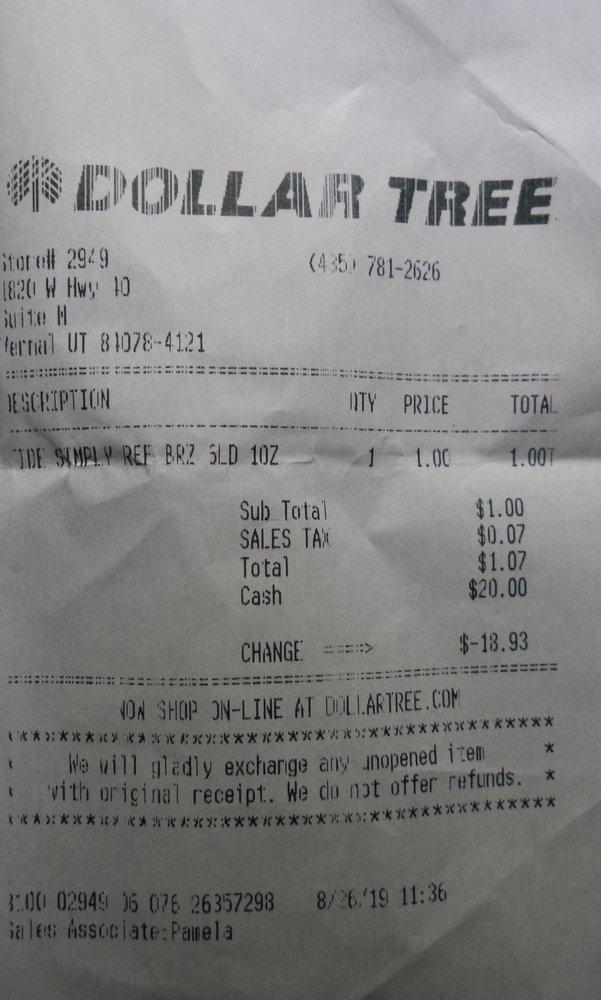 Dollar Tree: 1820 W Hwy 40, Vernal, UT