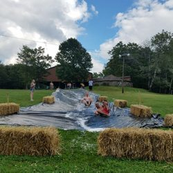 Photo of Camp Lindenmere - Henryville, PA, United States. Slip and slide