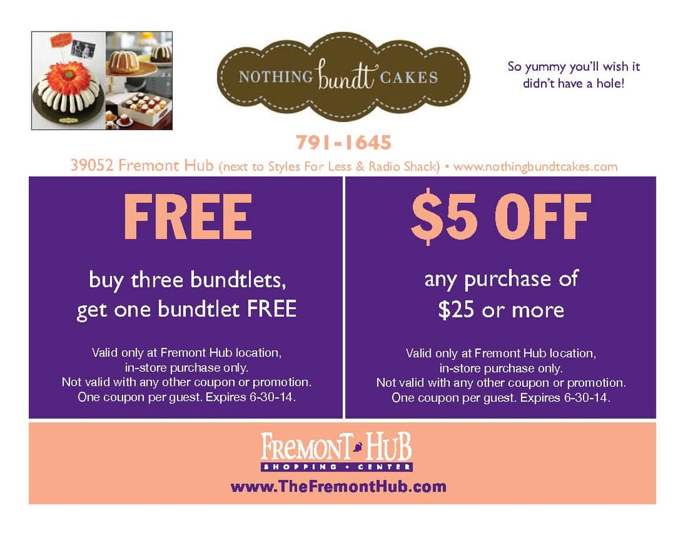 Nothing Bundt Cakes Coupon