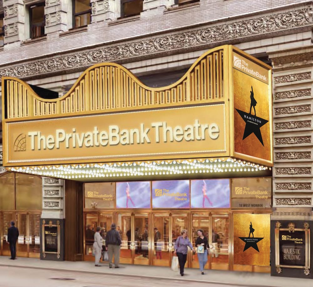 Artwork Mockup Of The Privatebank Theatre Marquee Yelp