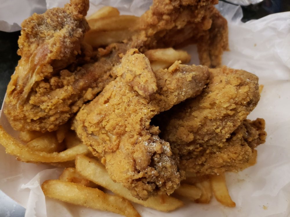 Shark's Fish & Chicken: 2500 St Charles Rd, Bellwood, IL