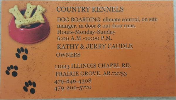 Dog Boarding Prairie Grove Ar