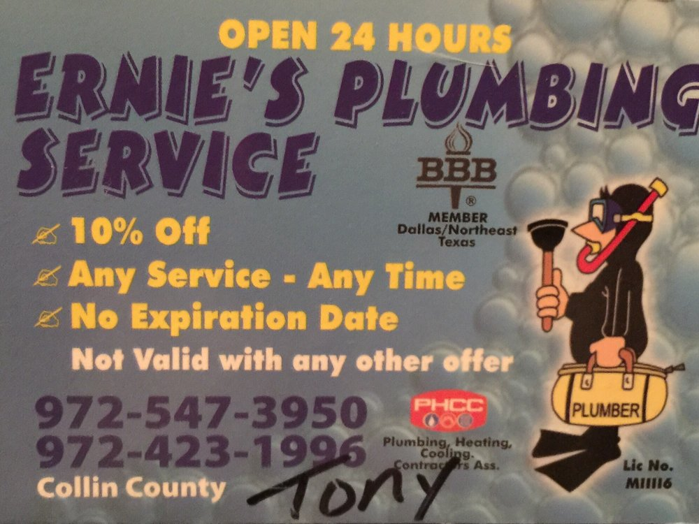 Ernie's Plumbing Service: McKinney, TX