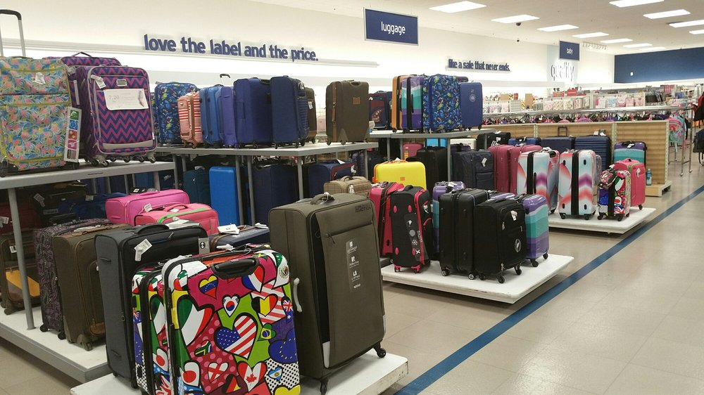 The luggage department is huge with so many colorful styles. - Yelp