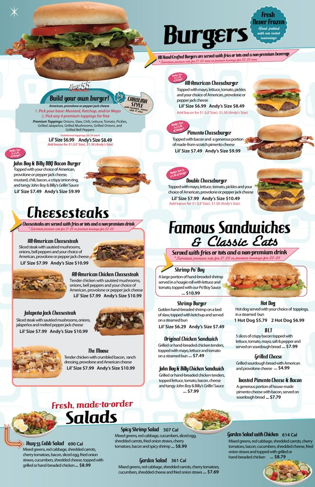 Hwy 55 Burgers Shakes & Fries: 21 Tanyard Station Dr, Barboursville, WV