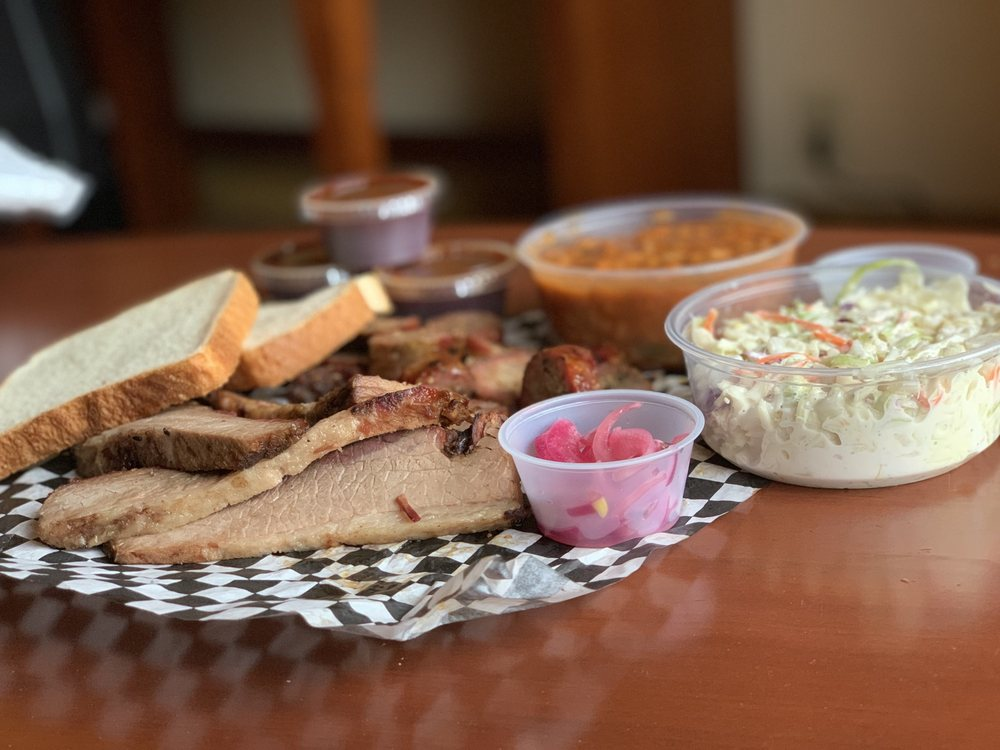 Food from Post Oak Smokehouse