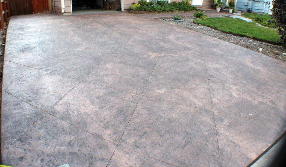 Stamped Concrete Color Santa Fe With Medium Gray Yelp