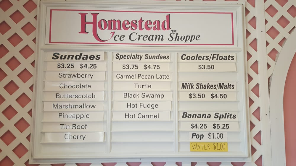 Homestead Ice Cream Shoppe: 22360 County Road F, Archbold, OH