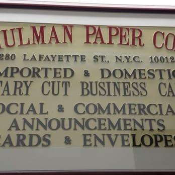 Shulman Paper Company - Printing Services - 25 E 21st St, Flatiron ...