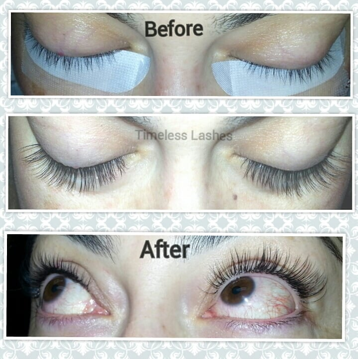 Short Straight Lashes To Gorgeous Full Lengthier Eyelash Extensions