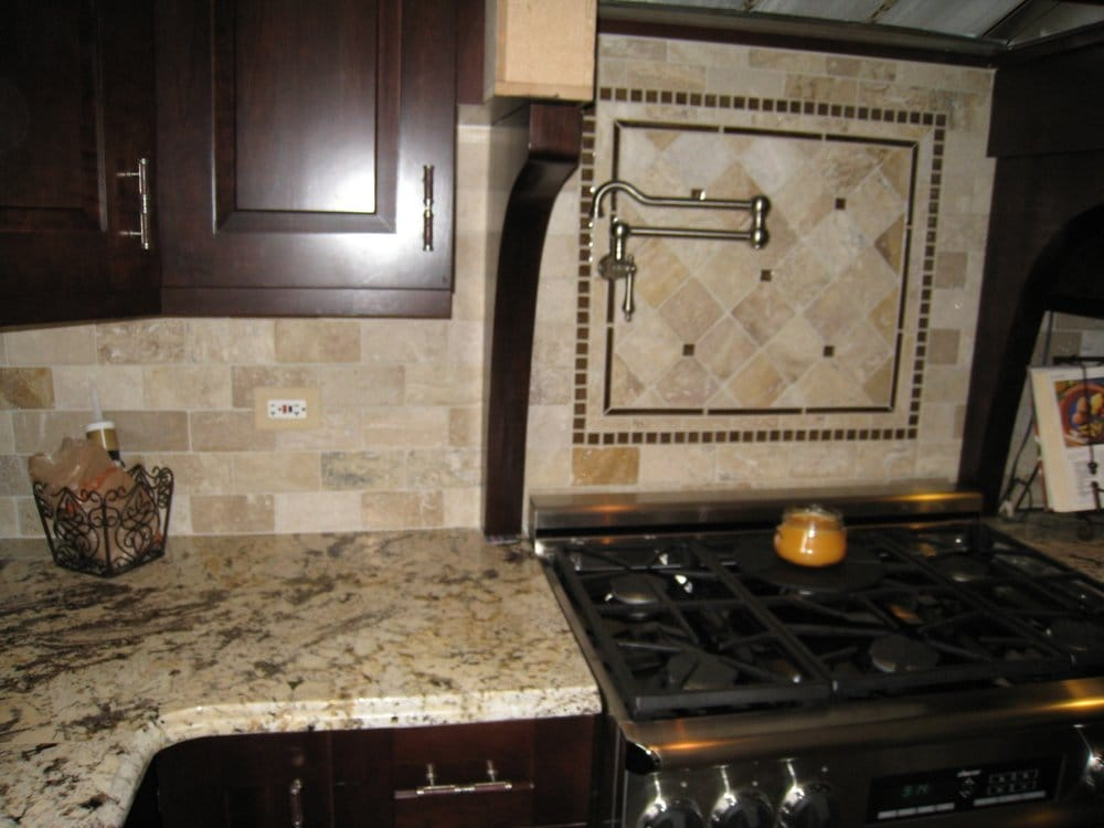 Natural Stone Backsplash natural stone backsplash - yelp