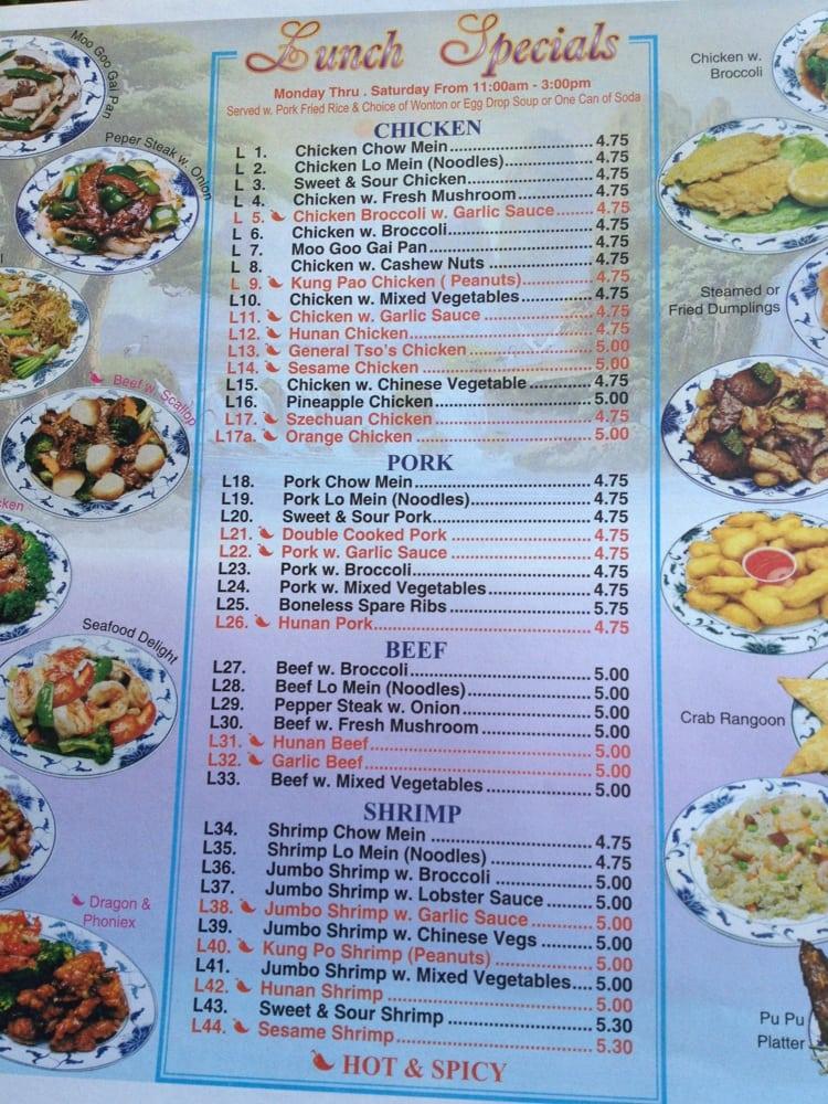 Golden Star Chinese Restaurant: 1019 Main St, Avoca, PA