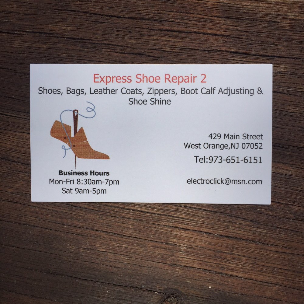 Ray\'s business card for Express Shoe Repair 2. - Yelp