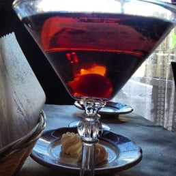 Quinta Steakhouse - Pearl River, NY, United States. Delicious Manhattan aperitif!