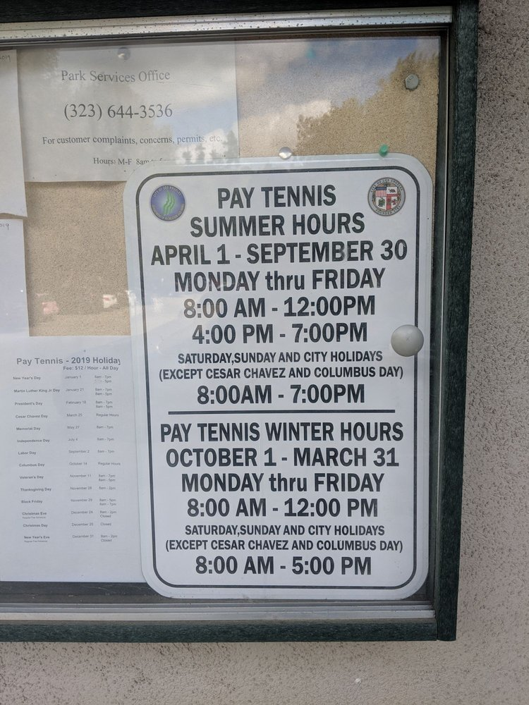 Vermont Canyon Tennis: 2715 N Vermont Ave, Los Angeles, CA