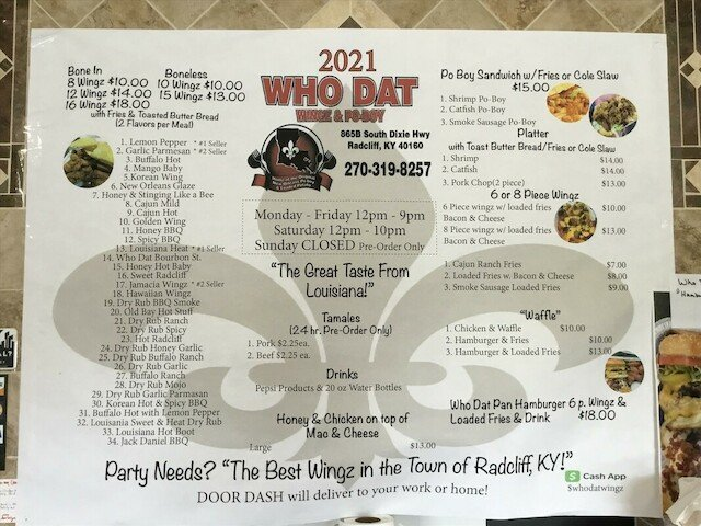 Mr. Brown - Who Dat: 865 S Dixie Blvd, Radcliff, KY