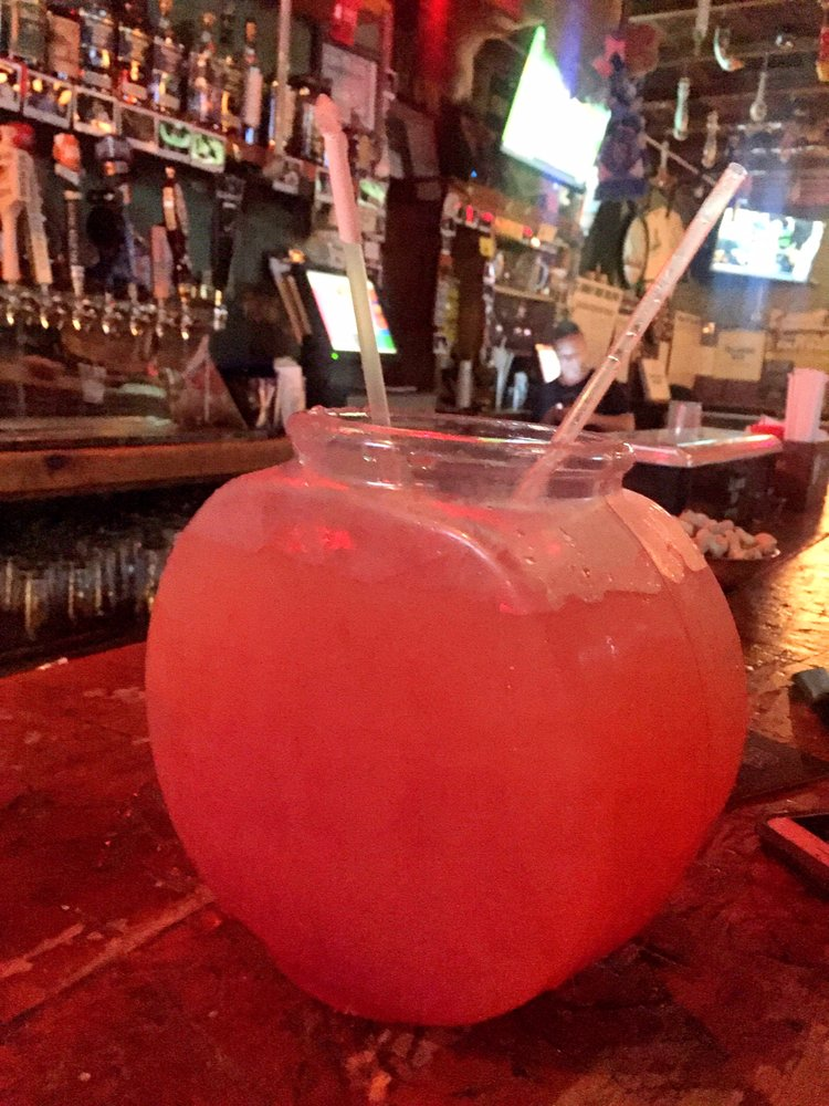 Donkey bowl fishbowl drink oh and there 39 s little for Fish bowl drinks near me
