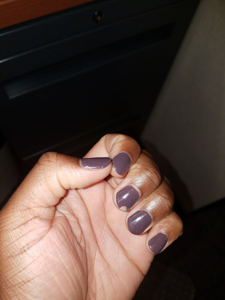 Nails fixed, with new dip powder and dip top coat after 2 days ...