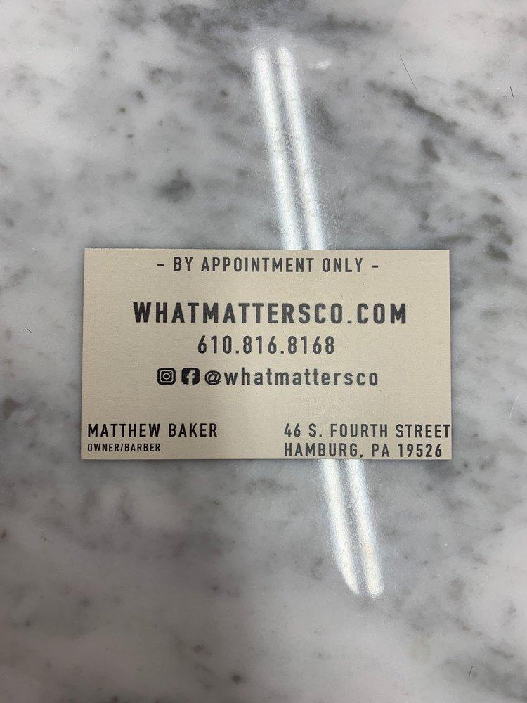 What Matters Co. Barber Shop: 46 S Fourth St, Hamburg, PA