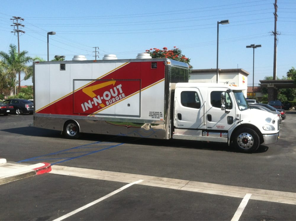 The In Out Burger Food Truck I Would Love For Them To Cater A