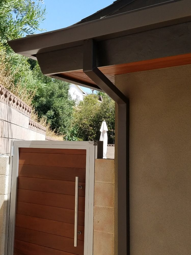 Straight Face Gutter With 2x3 Smooth Downspout Yelp