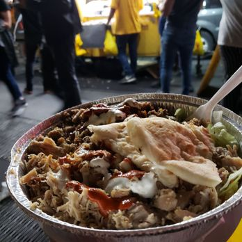 photo of the halal guys new york ny united states combo plate