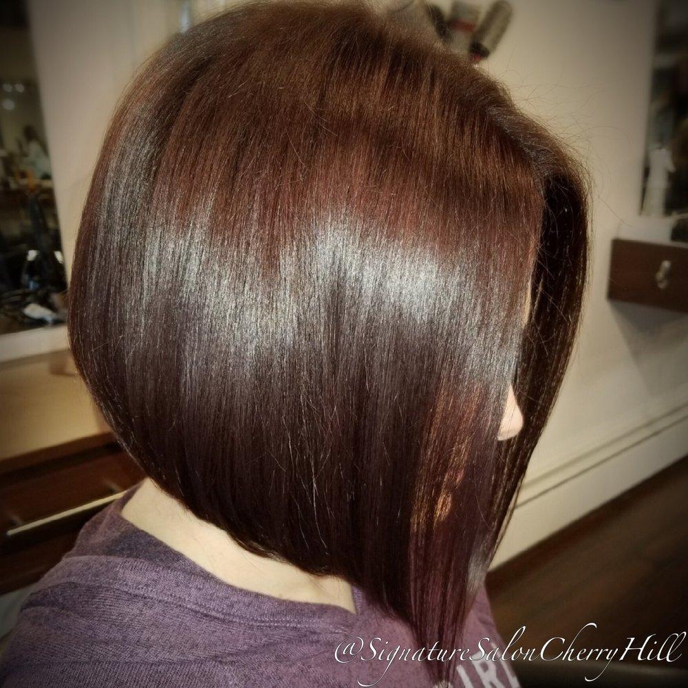 Mahogany Haircolor And Angled Bob Yelp