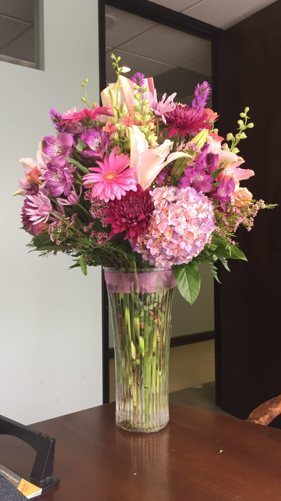 The gorgeous bouquet of birthday flowers delivered to my office on ...