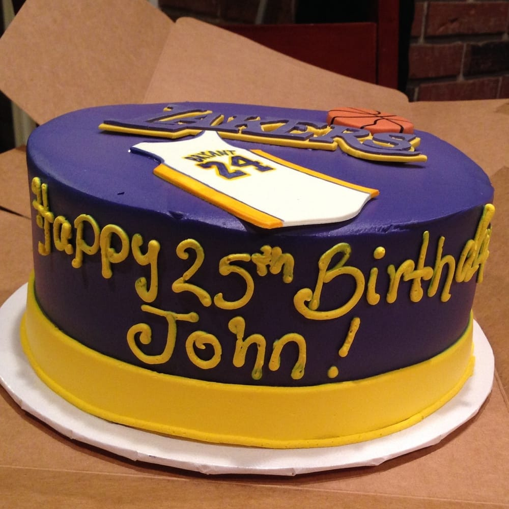 This Customized Laker Birthday Cake For My Boyfriend Turned Out Way