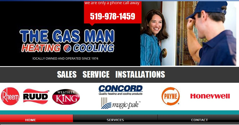 The Gas Man Heating & Cooling: 299 Bouffard Road, Windsor, ON