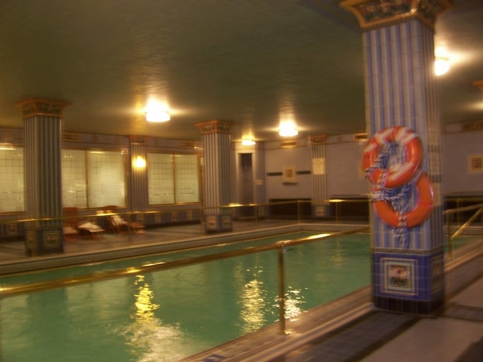 Classic indoor swimming pool near the gym at the biltmore - Indoor swimming pool in los angeles ...
