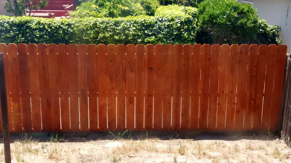Part Of The Dogeared Redwood Fence Note Kickboard At