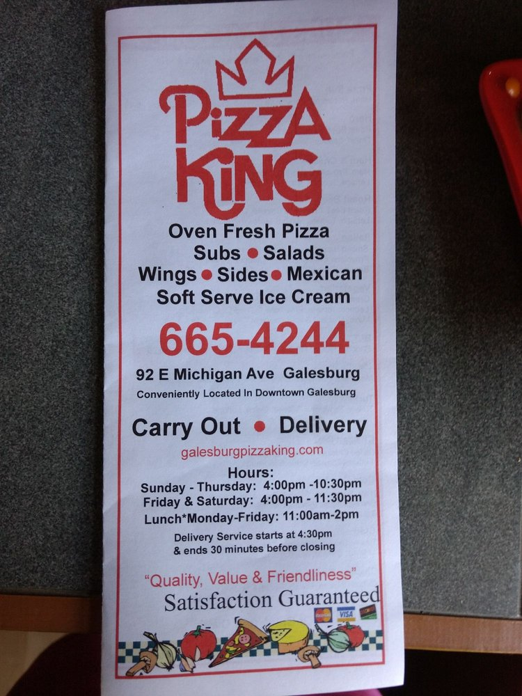 Pizza King: 92 E Michigan Ave, Galesburg, MI