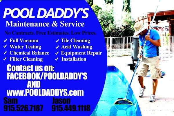 Pool Daddy S Pool Cleaners El Paso Tx Phone Number