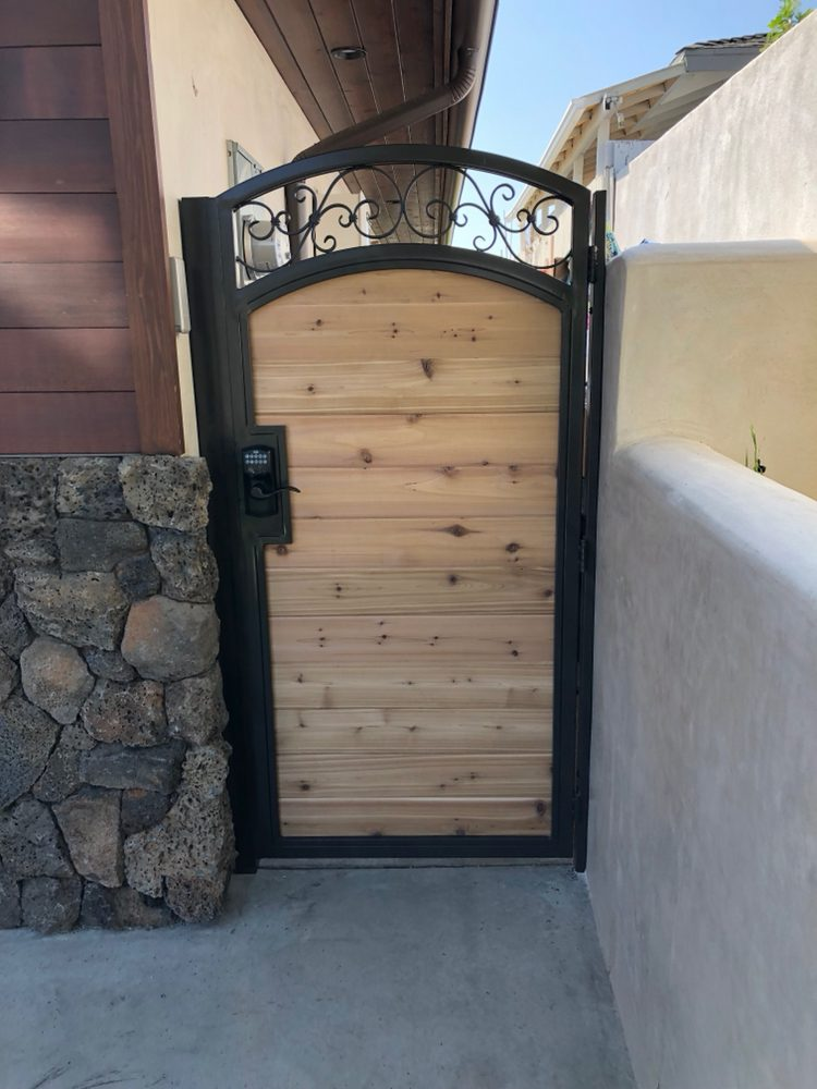 Supply And Install New Sidewalks Metal And Cedar Wood Gates With