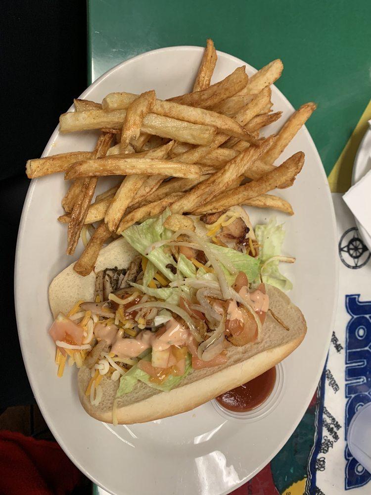 Food from D's Island Grill JA