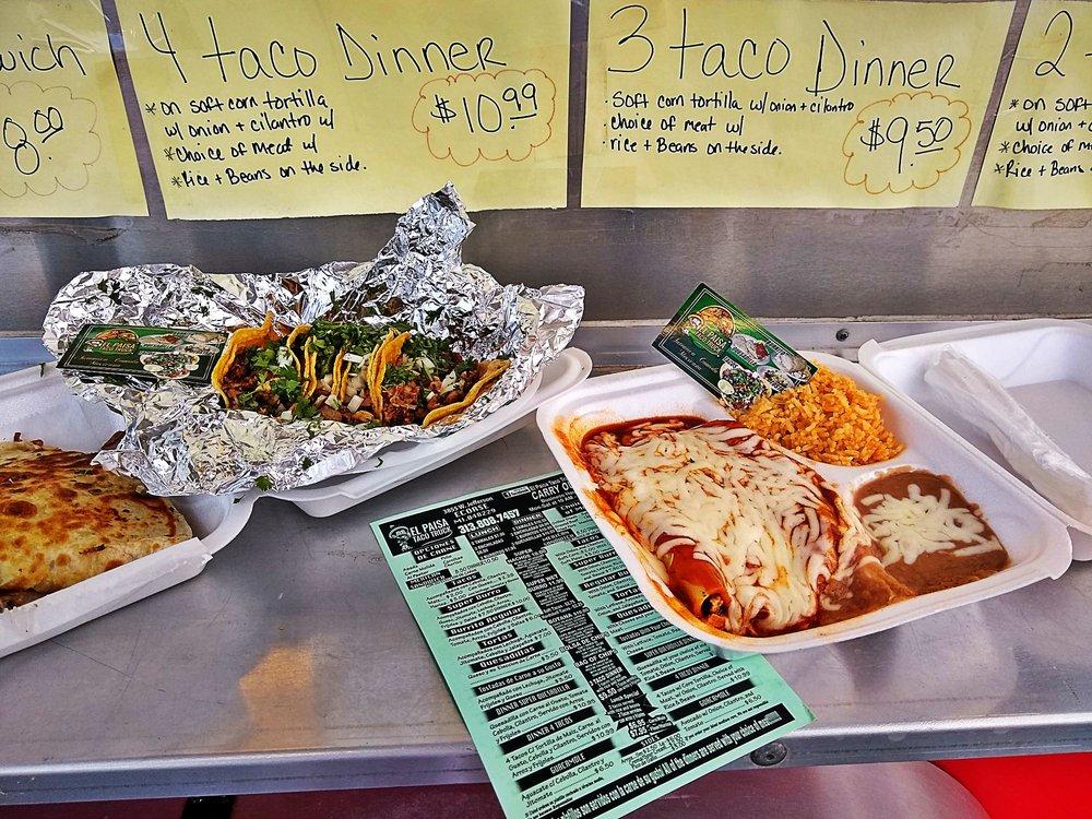 El Paisa Taco Truck: 3855 W Jefferson Ave, Ecorse, MI