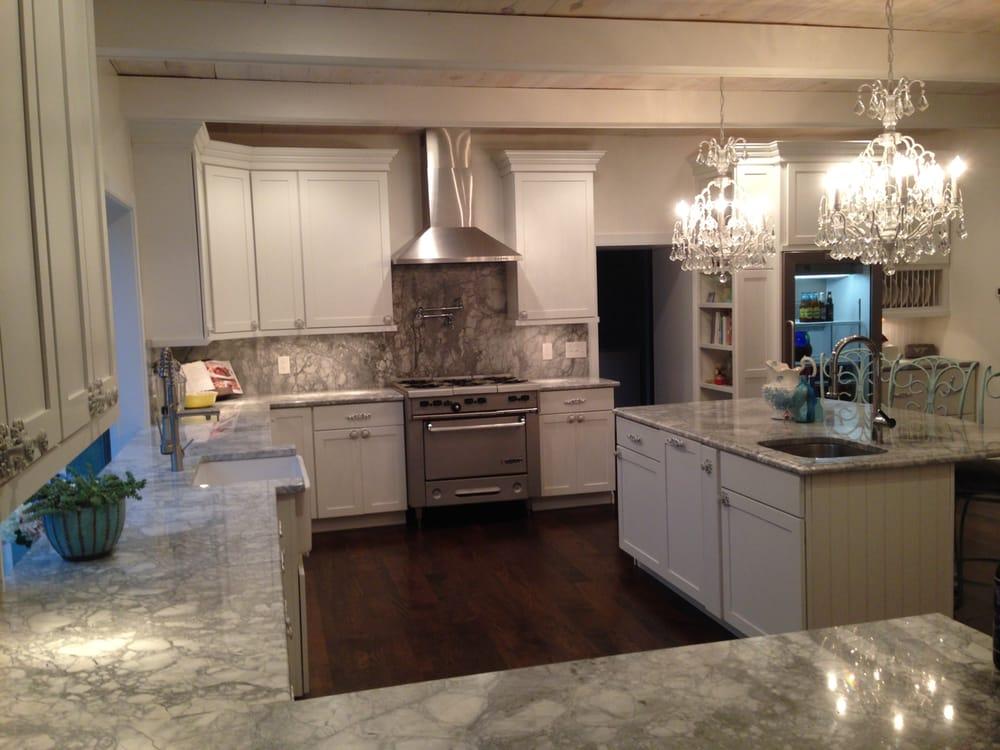 Super White Granite Kitchen Countertops With Full Height