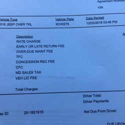 Payless Car Rental Get Receipt