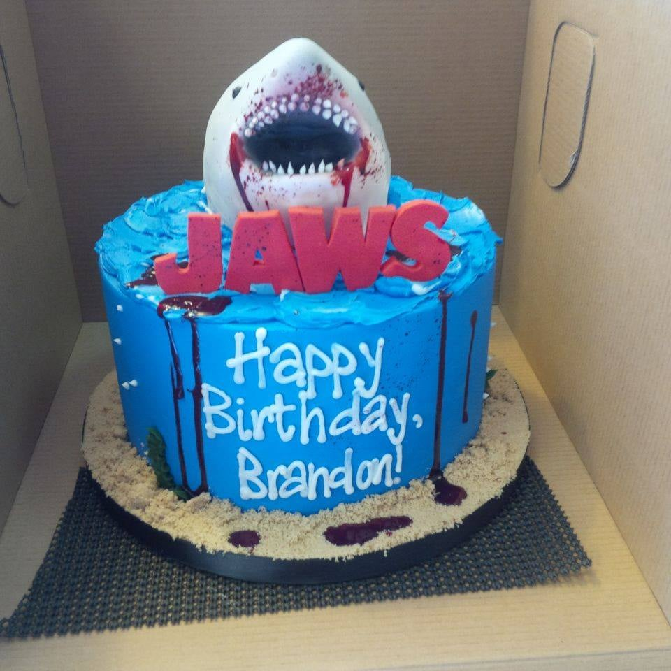 The Best Jaws Cake Of All Time Chocolate W Chocolate Buttercream