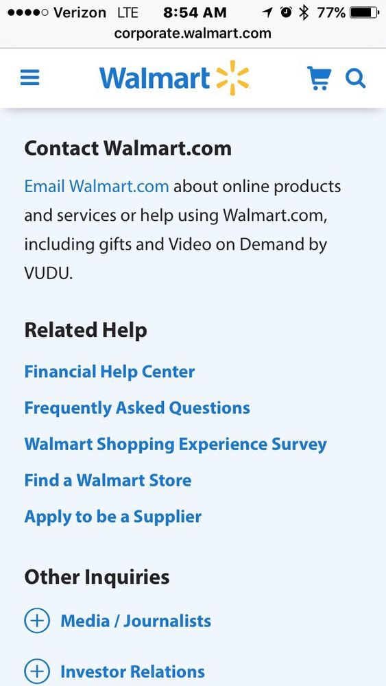 Walmart Corporate Contact >> Corporate Info Contact Them Regarding This Store Let S Get It