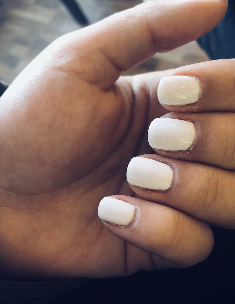 White no chip manicure looks perfect (my cuticles are dry because I ...
