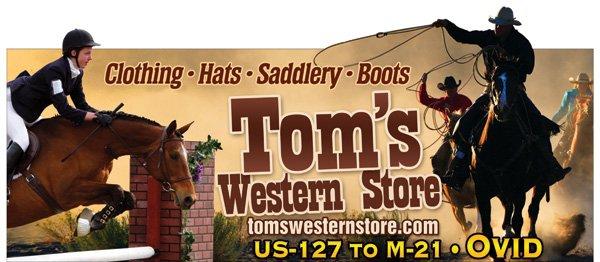 Tom's Western Store: 8982 EM-21, Ovid, MI