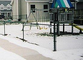 Clery Fence: 1430 Johnson St, Dansville, MI