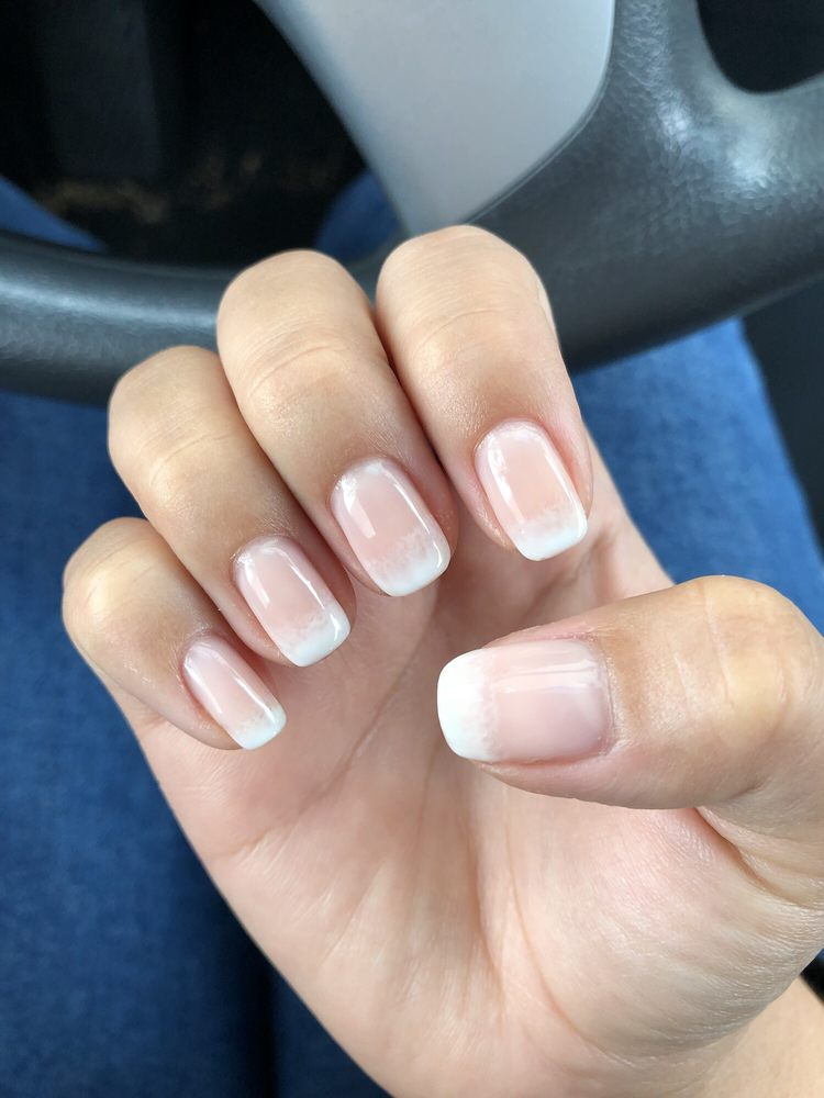 Gel French ombré manicure - Yelp